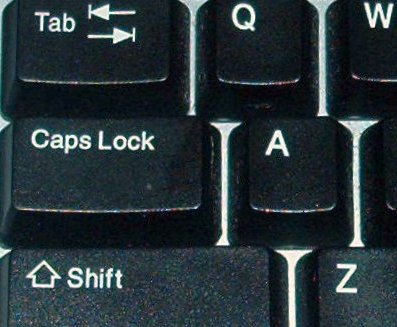 Caps Lock Tu%C5%9Fu Klavye Rehberi